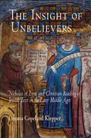 Cover of: The Insight of Unbelievers | Deeana Copeland Klepper