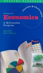 Cover of: Economics | John S. Morton