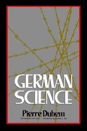 Cover of: German science