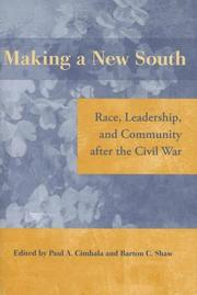 Cover of: Making a New South |