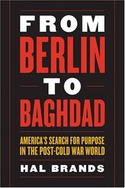 Cover of: From Berlin to Baghdad | Hal Brands