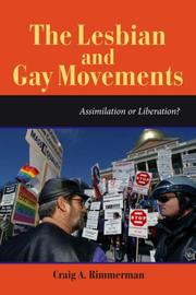 Cover of: The lesbian and gay movements
