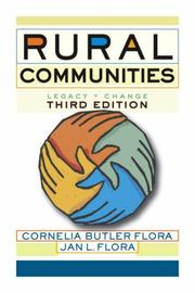 Cover of: Rural communities