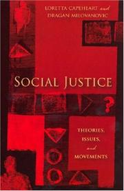 Cover of: Social justice by
