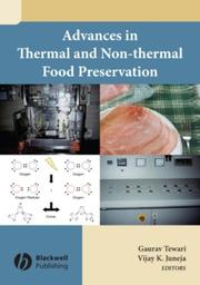 Cover of: Advances in thermal and non-thermal food preservation |