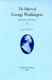 Cover of: The papers of George Washington