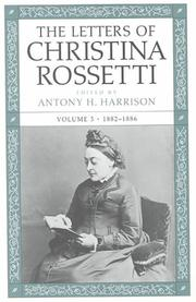 Cover of: The Letters of Christina Rossetti