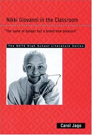 "Cover of: Nikki Giovanni in the classroom: ""the same ol danger but a brand new pleasure"""