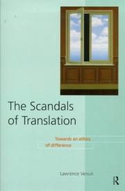 Cover of: The scandals of translation