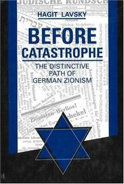 Cover of: Before catastrophe