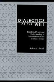 Cover of: Dialectics of the will
