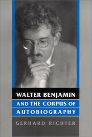 Cover of: Walter Benjamin and the corpus of autobiography