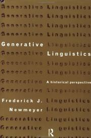 Cover of: Generative Linguistics | Freder Newmeyer