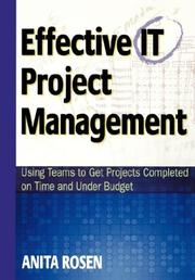 Cover of: Effective IT Project Management | Anita Rosen