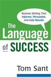 Cover of: The Language of Success | Tom Sant
