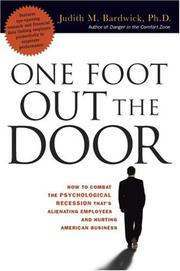 Cover of: One Foot Out the Door | Judith M. Bardwick