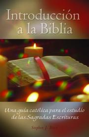 Cover of: Intoduccion a la Biblia