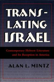 Cover of: Translating Israel