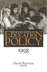 Cover of: Brookings Papers on Education Policy 1998 (Brookings Papers on Education Policy) | Diane Ravitch