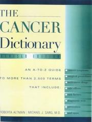 Cover of: The cancer dictionary