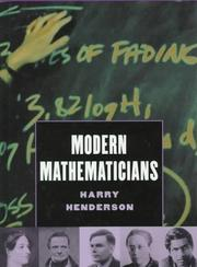 Cover of: Modern mathematicians by Harry Henderson
