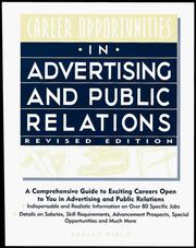Cover of: Career opportunities in advertising and public relations | Shelly Field