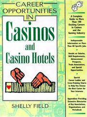 Cover of: Career Opportunities in Casinos and Casino Hotels | Shelly Field