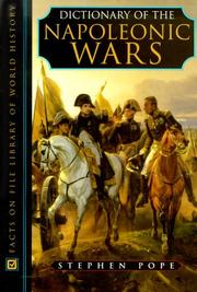 Cover of: Dictionary of the Napoleonic wars