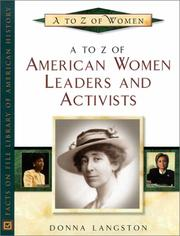 Cover of: A to Z of American Women Leaders and Activists (A to Z of Women) by Donna Hightower-Langston, Donna Langston