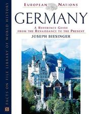 Cover of: Germany | Joseph A. Biesinger