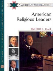 Cover of: American Religious Leaders | Timothy L. Hall
