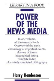 Cover of: Power of the news media |