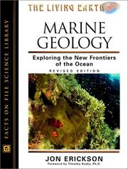 Cover of: Marine geology