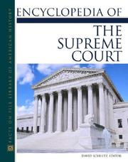 Cover of: Encyclopedia Of The Supreme Court | David Schultz