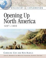 Cover of: Opening up North America, 1497-1800 | Cox, Caroline