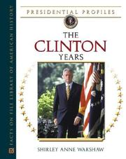 Cover of: The Clinton years | Shirley Anne Warshaw