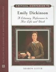 Cover of: Critical companion to Emily Dickinson