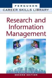 Cover of: Research and information management