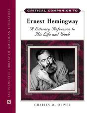 Cover of: Critical Companion to Ernest Hemingway