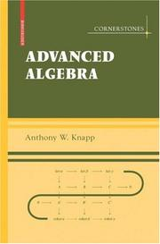 Cover of: Advanced Algebra
