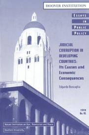 Cover of: Judicial corruption in developing countries