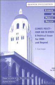 Cover of: Climate Policy--From Rio to Kyoto
