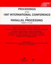 Cover of: Proceedings of the 1997 International Conference on Parallel Processing |