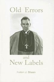 Cover of: Old errors and new labels