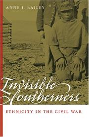 Cover of: Invisible Southerners