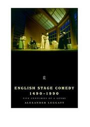 Cover of: English stage comedy, 1490-1990