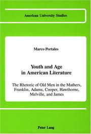 Cover of: Youth and age in American literature