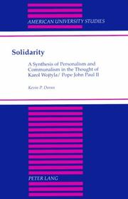 Cover of: Solidarity