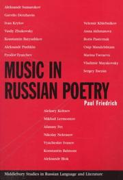 Cover of: Music in Russian poetry