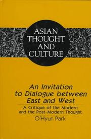Cover of: An Invitation to Dialogue Between East and West